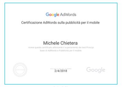 Pubblicità Mobile - certificazione academy fors ads