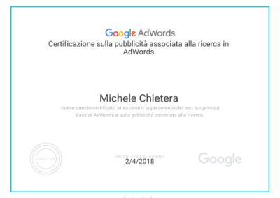 Rete ricerca Adwords - certificazione academy fors ads